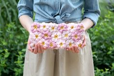 Mollie Flower Power Clutch by Caught On A Whim