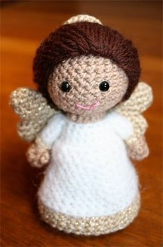 Crochet Pattern- Paz the little angel amigurumi doll I wonder how hard this would be to make? I love it!