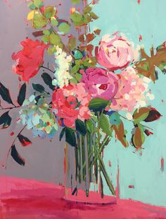 Florida artist Kathleen Broaderick's fresh, colorful approach to every subject brings joy to art collectors across the country. Purchase original paintings at Gallery Vibe in Naples, FL. Flower Painting Canvas, Oil Painting Abstract, Abstract Geometric Art, Abstract Flowers, Small Canvas Art, Floral Artwork, Art Gallery, Erin Gregory, Modern Art
