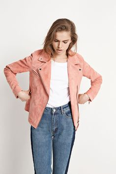 ENTHILDE SUEDE JACKET 6196, ROSEMARY LIP