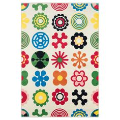 $39.99 LUSY BLOM Rug, low pile - IKEA. This would be great for our baby's room. Not too girly, but still bright and cheerful.