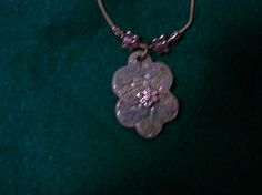 Blues and light purple colors with a flower charm - ceramic