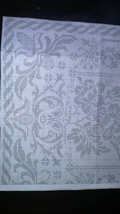Patterns In Nature, Filet Crochet, Embroidery Patterns, Diy And Crafts, Cross Stitch, Knitting, Flowers, Design, Crafts