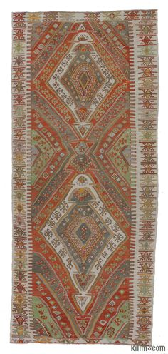 Vintage Sivas Kilim Rug around 70 years old and in very good condition.