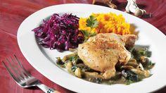 Hauts de cuisse de poulet, sauce aux champignons | Recettes IGA | Volaille, Sauce, Recette facile