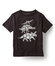 This Cotton Jungle Black Pattern-Filled Dinosaurs Tee - Kids by Cotton Jungle is perfect! #zulilyfinds
