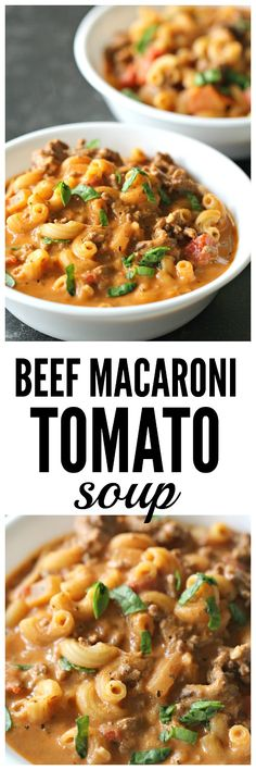Beef Macaroni Tomato Soup from SixSistersStuff.com