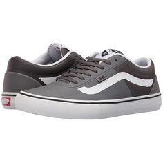 Vans AV Rapidweld Pro Lite (Tornado/White) Men's Lace up casual Shoes (€82) ❤ liked on Polyvore featuring men's fashion, men's shoes, men's sneakers, mens mesh shoes, vans mens shoes, mens lace up shoes, mens sneakers and mens shoes