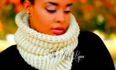 """""""The Linda"""" Crochet Cowl Chunky  Great for Fall/Winter"""