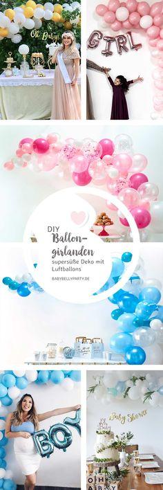 Wir zeigen dir, wie du eine zuckersüße Ballongirlande, perfekt passend zu deiner Feier zusammenstellst! Reveal Parties, Gender Reveal, Neutral, Pink, Boy Baby Showers, Boy Or Girl, Main Colors, Balloons, Garlands