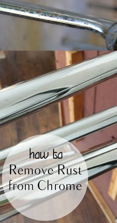 How to Remove Rust from Chrome. Cleaning, cleaning tips, home cleaning, cleaning hacks, bathroom, home décor, organization, home organization, DIY, cleaning, do it yourself.