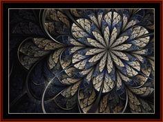 Cross Stitch Collectibles - Detail1 - FR-547 - Fractal 547 - All cross stitch patterns - Abstract - Fractals - Graphic Art - Cross Stitch Collectibles