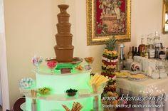 Smaczna czekolada i palma owocowa - www.inspiracje-weselne.pl