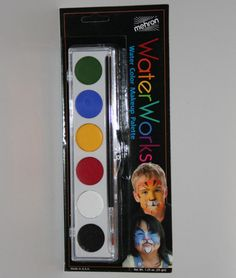 WaterWorks water color makeup palette face body hair painting clown theatrical #Mehron