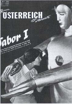 Poster: From one of Sabor the Robot's many European tours, which included his own exhibit at Expo '58, the Brussels World's Fair.