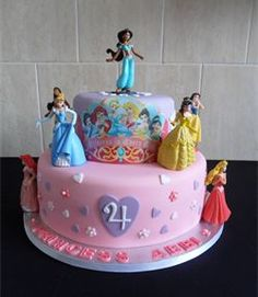 birthday cake princess disney - Google Search