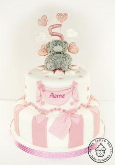 Me To You tatty teddy pink birthday cake