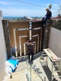 제주도 - 연수원 대문 : 네이버 블로그 Door Gate Design, Doors, Steel, Puertas, Doorway, Iron, Gate