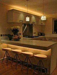 Trendy Kitchen Decor Ideas Above Cabinets Countertops Kitchen Interior, Kitchen Design Small, Small Kitchen, Kitchen Remodel, Kitchen Decor, Contemporary Kitchen, New Kitchen, Home Kitchens, Kitchen Design