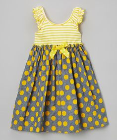 Yellow & Gray Chambray Sundress - Infant, Toddler & Girls #zulily…