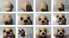 Como hacer la cara de un perrito en porcelana fria: