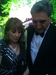 Downton Abbey Bafta Red Carpet Phyllis  Logan and Jim Carter..