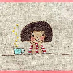 おかっぱちゃん 今日は、また おかっぱちゃんの刺繍 ほっとひと息 お茶の時間 1日家にいる日は、 朝の珈琲から始まって 日本茶 紅茶 また珈琲 フルーツジュース挟んで ゆず蜜のお湯割り 日本茶 気がつくとなにかしら飲んでいます。 リラックスできるんですよね〜 お茶の時間大好きです。 ヤフオクにがま口7個出品中です。 ID lavandula3608 です。^ω^ #刺繍 #手作り #ステッチ #オリジナル #ハンドメイド #handmade #図案 #embroidey #タグ #おかっぱちゃん