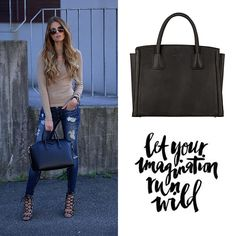 Let Your Imagination Run Wild. Burkely Pure Pippa Handtas Medium 520066 Black. #burkely #quote #fashion #imagination #wild #style #bag #jeans #highheels
