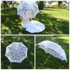 Wedding umbrella Crochet umbrella White lace umbrella Wedding Knitted Parasol Wedding accessories Photo session umbrella Bridal accessories by CrochetTenderness on Etsy https://www.etsy.com/in-en/listing/243702728/wedding-umbrella-crochet-umbrella-white