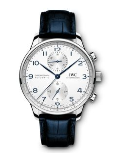The harmoniously designed chronograph with its peripheral precision scale and recessed totalizers has been the most coveted member of the Portugieser family since 1998. Gentlemans Club, Top Gun, Iwc Watches, Watches For Men, Iwc Chronograph, Iwc Pilot, Bronze, Credit Cards, Luxury Watches