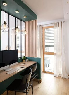 Un salon multifonctions à Lyon - New Deko Sites Home Interior Design, Office Interior Design, House Interior, Office Interiors, Home, Interior Design Living Room, Home Deco, Home Office Design, Home Decor
