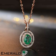 Fabulous emerald gemstone studded pendant for your stylish look. Emerald Pendant, Emerald Jewelry, Emerald Gemstone, Diamond Pendant Necklace, White Gold Diamonds, Natural Diamonds, Rose Gold, Quality Diamonds, Jewelry Accessories
