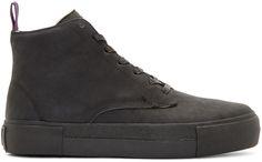Eytys: Black Nubuck Odyssey High-Top Sneakers   SSENSE