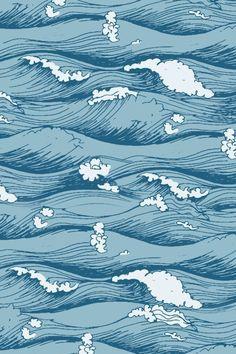 Wallpaper Ondas by Gocase Wallpaper Pastel, Waves Wallpaper, Iphone Wallpaper Vsco, Homescreen Wallpaper, Aesthetic Pastel Wallpaper, Iphone Background Wallpaper, Blue Wallpapers, Tumblr Wallpaper, Cool Wallpaper