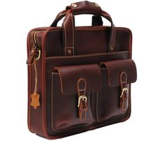 beautiful leather messenger bag on uncovet