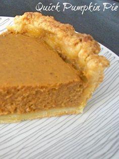 Quick Pumpkin Pie