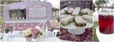 Travelling High tea Van for Hire - Great idea for a Wedding, Hen's Party or Little Girls Tea Party.