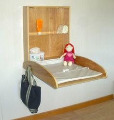Amazon.com: Wall Mounted Baby Changing Table, Commercial, Vertical, Natural Birch: Baby:  $399