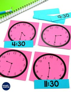 Telling Time Activities for Teaching Primary Students Telling Time Games, Telling Time Activities, Teaching Time, Kids Learning Activities, Teaching Ideas, Time Games For Kids, Math Rotations, Numeracy, Math Centers
