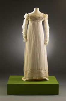 DressDetails  Cotton and Silk dress 1813-1817.  Museum of Fashion Bath