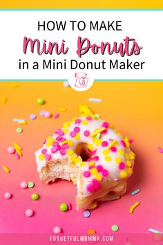 My kids LOVE these mini donuts, and I love that they take hardy anytime at all to make. Easy To Make Desserts, Delicious Desserts, Dessert Recipes, Yummy Food, Mini Donut Maker Recipes, Bacon Donut, Mini Donuts, Chocolate Frosting, Chocolate Lovers