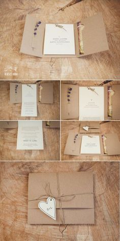 rustic wedding invitations with lace and burlap