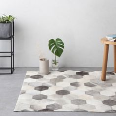 120x180 Leather Rug 4  by Jute & Co. designed in Italy #MONOQI