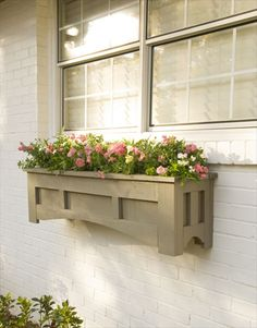 Ten DIY Window Box Planter Ideas with Free Building Plans - Tuesday {ten} - bystephanielynn - DIY Mission Style Window Box… - Outdoor Projects, Garden Projects, Garden Ideas, Window Planter Boxes, Planter Ideas, Home Decoracion, Outdoor Living, Outdoor Decor, Outdoor Pots