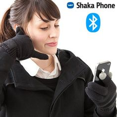 This winter don't hesitate to buy Shaka Phone Hands-Free Gloves! These winter gloves are also convenient bluetooth gloves equipped with an earphone and a microphone that are integrated in the fingertips that are conductive and touchscreen-sensitiv. Bluetooth, Cadeau High Tech, Engraved Pens, Smartphone, Cool Things To Buy, Stuff To Buy, Gadgets, Youtube, Ebay