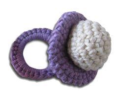 chupete tejido en crochet
