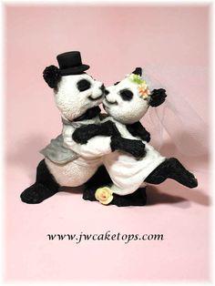panda wedding cake topper - Google Search