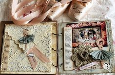 Great look for a shabby chic mini album