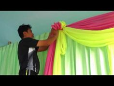 ShopWildThings Free Video How to Swag Pipe and Drape Fabric 16th Birthday Decorations, Backdrop Decorations, Diy Wedding Decorations, Backdrops, Wedding Reception Backdrop, Wedding Draping, Garland Wedding, Wedding Stage, Swags And Tails