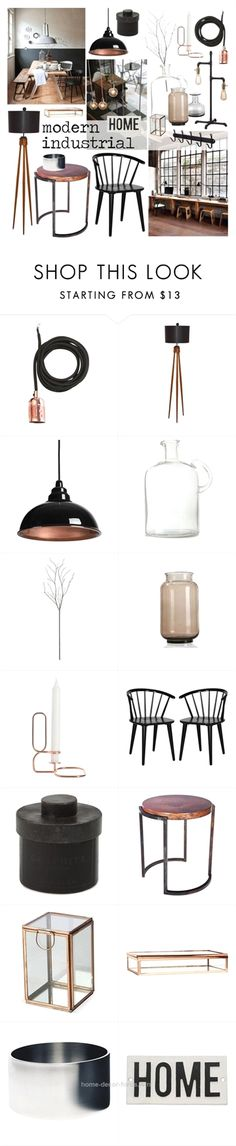 """Modern Industrial"" West Elm, Frama, Crate and Barrel, HAY and Dot & Bo Industrial Chic Decor, Industrial House, Industrial Interiors, Modern Industrial, Vintage Industrial, Modern Rustic, Mood Board Interior, Interior Styling, Interior Decorating"